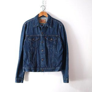 vintage levis blue denim trucker jacket